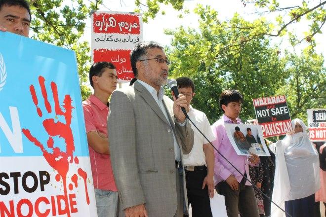 Protest in Canberra, Australia Against Hazara Genocide